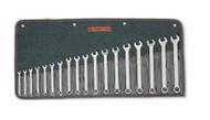 Wright Tool - 18 Pc  WRIGHTGRIP® Metric Wrench Set 12 Pt Satin 7mm - 24mm USA Mfg
