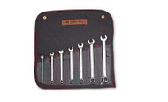 "Wright Tool - 7 Pc  WRIGHTGRIP® Combination Wrench Set 12 Pt Full Polish 1/4"" - 5/8"" w Denim Roll USA Mfg"