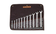 "Wright Tool - 11 Pc  WRIGHTGRIP® Combination Wrench Set 12 Pt Full Polish 3/8"" - 1"" w Denim Roll USA Mfg **Free Shipping**"