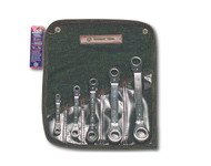 """Wright Tool -5 Pc  Reverse Ratcheting Box Wrench -12 Point Offset SAE 1/4"""" - 7/8"""" USA Mfg **Free Shipping**"""