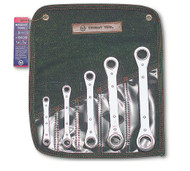 "Wright Tool -5 Pc Ratcheting Box Wrench -12 Pt Straight SAE 1/4"" - 7/8"" USA Mfg"