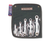 Wright Tool -5 Pc Ratcheting Box Wrench -12 Pt Straight Metric 7mm - 17mm USA Mfg **Free Shipping**