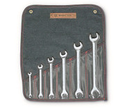 """Wright Tool -6 Pc Open End Wrench Full Polish 1/4"""" - 15/16"""" USA Mfg"""