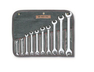 "Wright Tool -10 Pc Open End Wrench Full Polish 1/4"" - 1-1/8"" USA Mfg **Free Shipping**"