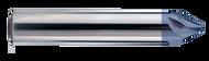 Melin - .250 - 1/4 x 1/4 x 0.164 loc x 2-1/2 oal SE 5 FL 60° Chamfer Mill Tip 0.06 ALTIN - H7830