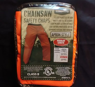 Forester - Chainsaw Safety Chaps with Pocket, Apron Style Orange Reg / Free Shipping
