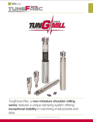"""Tungaloy - 3/8"""" Miniature Indexable End MIll + 10 ea AVGT-MJ AH3135 Inserts Starter Pack. Miniature Square Shoulder Indexable Milling Cutters with exceptional productivity."""