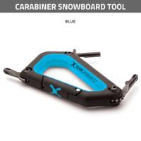 Carabiner Snowboard Tool - Blue