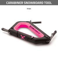 Carabiner Snowboard Tool - Pink