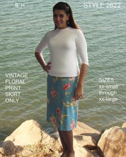 Aqua Modesta Skirt Only