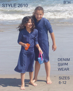 Style 2610 - Girls modest swim dress/ cover-Up
