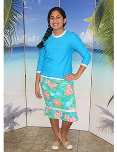 Girls  style 2619  two piece set in turquoise island