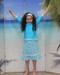 style 2619 girls two piece turquoise seashells