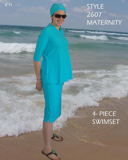 Maternity swim set in Turquoise