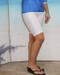 Style 2618S knee length short in white