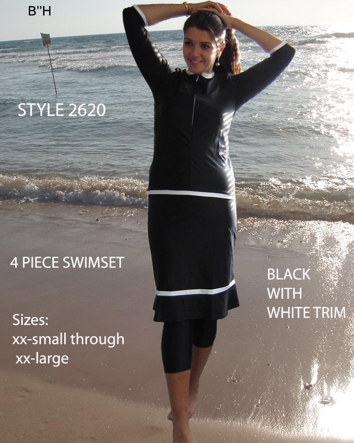 Aqua Modesta-Ladies modest four piece swim set style 2631