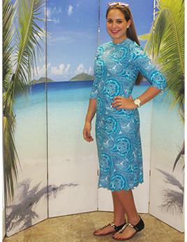 804b6a93ca4c3 ... Aqua Modesta-Ladies modest swim dress style 2600A-1. banner. style  2600A-1 in jade paisley