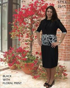 style 2615 in black floral print