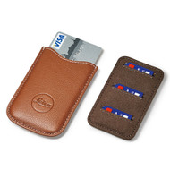 Leica SD Card & Credit Card Holder, leather, cognac