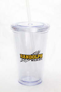 Clear Beverage Cup with Straw