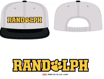 Heather Grey/Black Snapback Hat