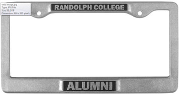 RC Alumni License Plate Frame