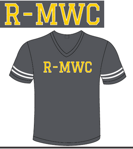 R-MWC Football V-Neck in Vintage Smoke