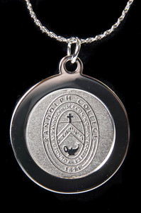 Randolph College Silver Seal Pendant Necklace