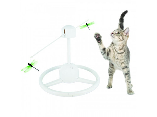 Flitter automatic cat toy and cat