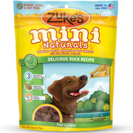 Zuke's Mini Naturals Healthy Moist Miniature Dog Treats-Delicious Duck