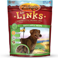Zuke's Lil' Links Sausage Links Grain-Free Dog Treats-Duck & Apple