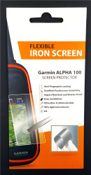 Flexible Iron Screen Protector for Garmin Alpha 100