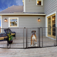 "Carlson Outdoor Super Wide Pet Gate 28"" H x 144"" W"
