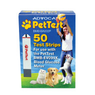 Advocate PetTest Blood Glucose Test Strips 50 per Box