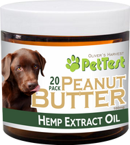 PetTest Peanut Butter Hemp CBD Dog Treats 100 mg