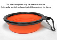 Collapsible Travel Pet Bowl with Carabiner