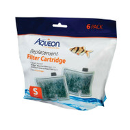 Aqueon Filter Cartridge SMALL 6 Pack for Quiet Flow E Size 10 & MiniFlow