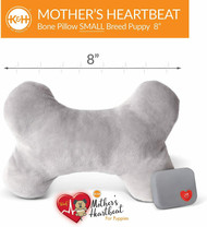 K&H Pet Mother's Heartbeat Plush Dog Bone Pillow Small Gray 8 x 4