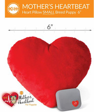 "K&H Pet Mother's Heartbeat Plush Dog Heart Pillow Small Red 6"" x 5"""