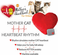K&H Pet Mother's Heartbeat Plush Heart Pillow Kitten Heartbeat Rhythm Red 6 x 5""