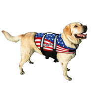 Pawz Pet Nylon Dog Life Jacket-Flag