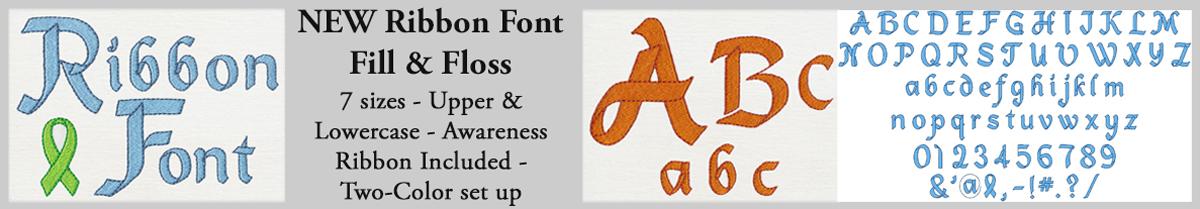 NEW! Ribbon Font