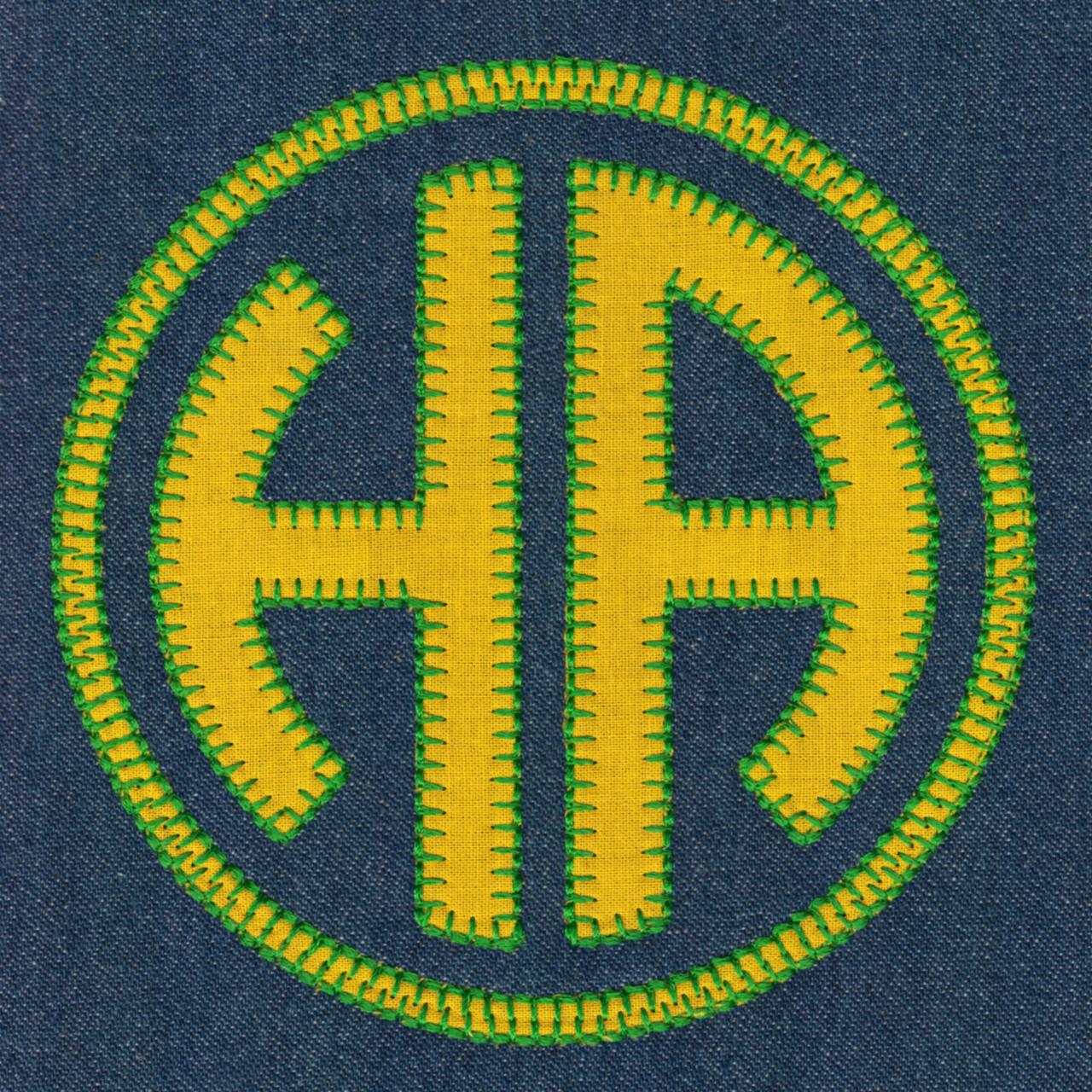 678 Circle 2 Letter Monogram Blanket Stitch Applique