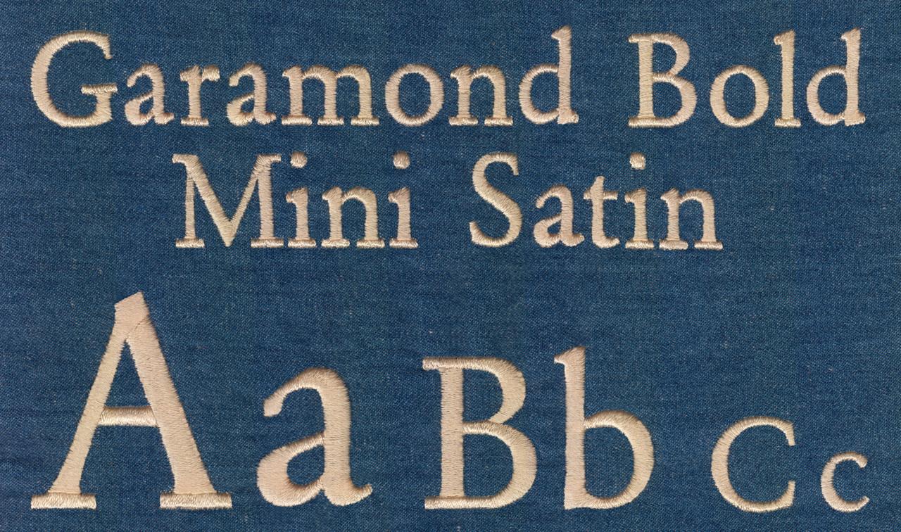 692 Garamond Bold Mini Satin Font