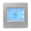 Silver Touchscreen Thermostat for Underfloor Heating