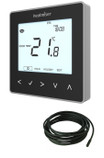 Black Programmable Digital Thermostat - 230V - Electric UFH