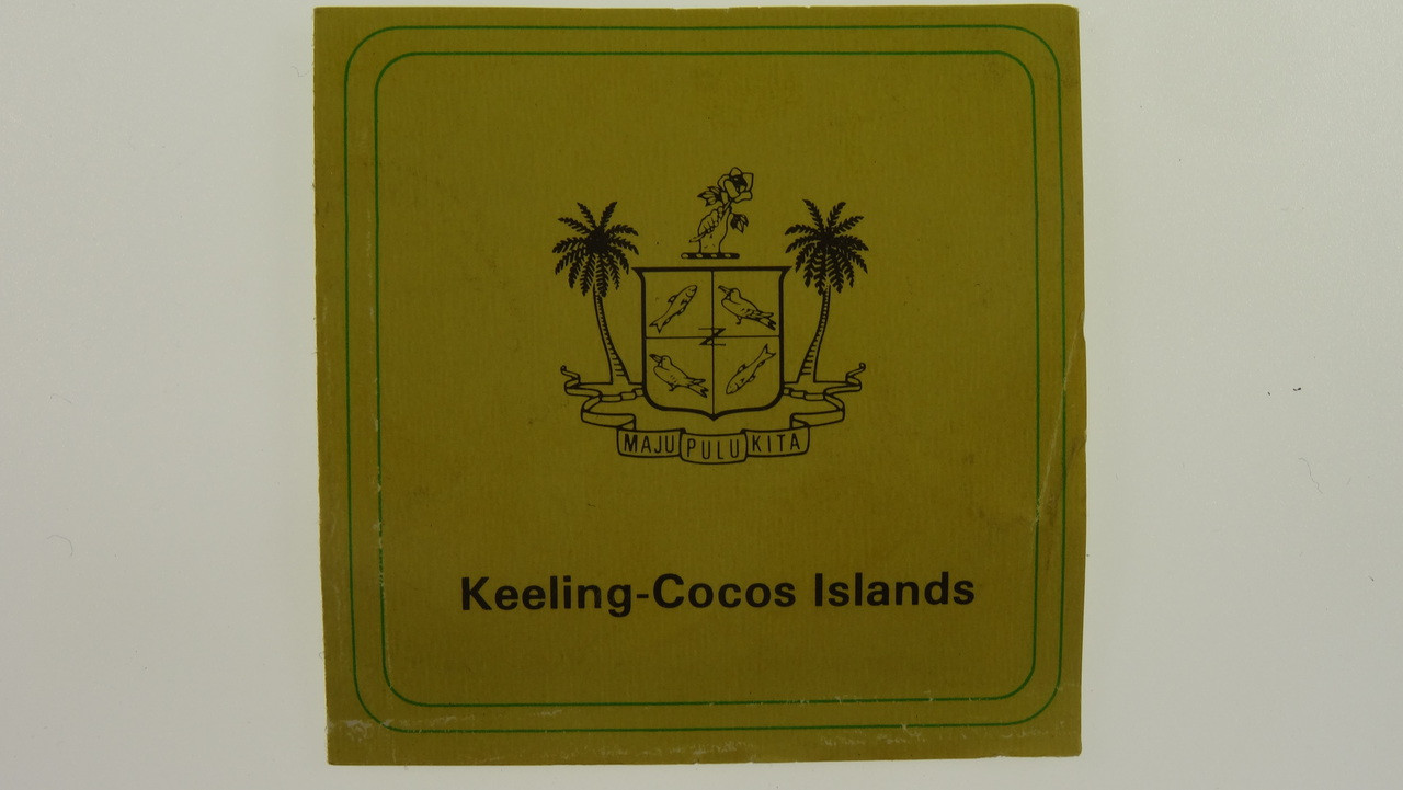 1977 Cocos Islands 10 & 25 Silver Rupees Coin Set Booklet