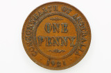 1921 Penny George V in Very Fine Condition