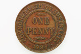 1931 Penny Dropped 1 Variety George V Low Mint in Very Fine Condition