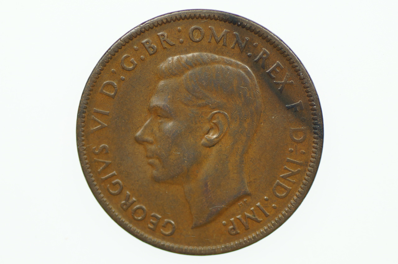 1940 K.G Penny George VI in Very Fine Condition Obverse